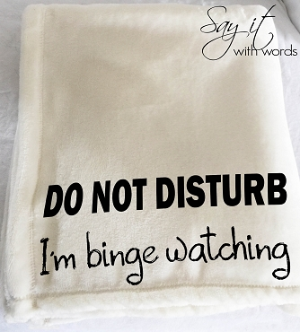 Personalized Custom Throw Blanket for your favorite TV Binge Watcher